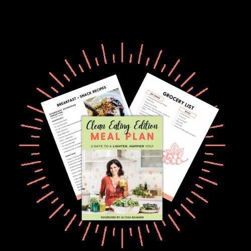 clean eating meal plan pdf